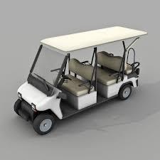 golf cart 3d asset golf cart low poly cgtrader