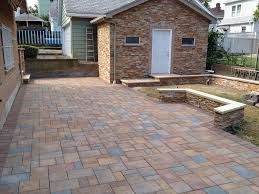 decorating wonderful exterior design with cambridge pavers