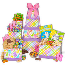 easter bunny gifts easter bunny gift tower by gourmetgiftbaskets
