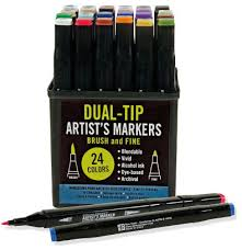 Barnes And Noble Rockefeller Center Studio Series Dual Tip Artist U0027s Markers Set Of 24