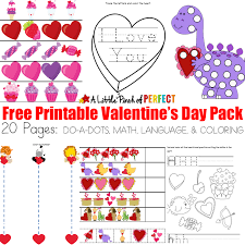 free valentine u0027s day printable activity pack 20 pages math and