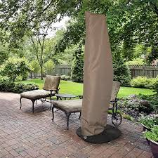 13 Foot Cantilever Patio Umbrella All Weather Protective Umbrella Cover Fits 10 Ft To 13 Ft
