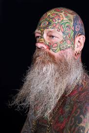 denmarks most tattooed man lazy red dog