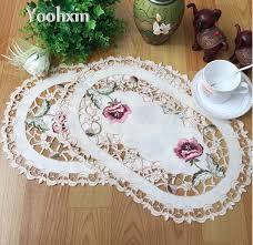 napperon de cuisine moderne broderie table napperon pad tissu de mariage napperon