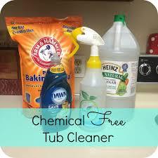 Bathtub Cleaner Vinegar Becoming A Chemical Free Home Tub Cleaner The Buccio Clan