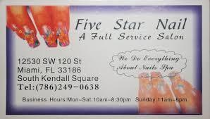 five stars nail salon in miami florida relylocal