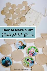 how to make a diy photo memory match game toddler and kids crafts