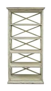 rustic wood display cabinet rustic off white color solid wood display cabinet book shelf jz419s