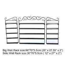 5 layers durable metal wire nail polish display organizer wall