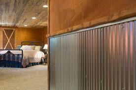 Wall Covering Panels by Corrugated Metal For Interior Walls Wainscot 1 1 4