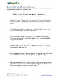 addition addition and subtraction worded problems free math