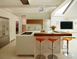 good looking orange bar stool contemporary kitchen