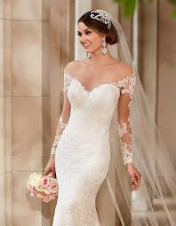 lace wedding dress with sleeves j191 see through top lace wedding dress vintage 2016