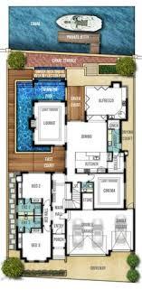 home designs floor plans the breakwater 4bed 2bath 2car flr 1 architecture plans