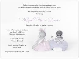 ballerina baby shower invitations ballerinas baby shower invitations storkie