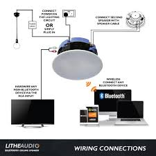lithe audio bluetooth ceiling speaker all in one solution
