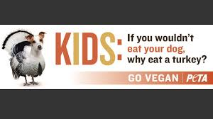 peta billboard uses to urge not to eat thanksgiving