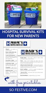hospital survival kits gifts for new moms and dads so festive