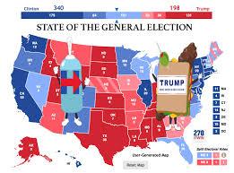 Election Map Results by Trump Vs Clinton Electoral Map Electoral College Prediction