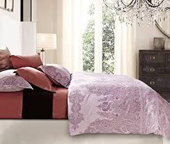 Lilac Bedding Sets Lavender Lilac Bohemian Paisley Duvet Quilt Cover
