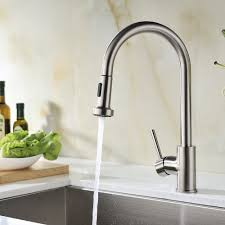 avola solid brass sink kitchen faucet brushed nickel 1 lever avola solid brass sink kitchen faucet brushed nickel 1 lever handle pull down spout mixer tap stainless steel brushed brass kitchen sink faucets