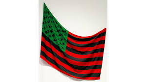 top 25 sculptures at the museum of modern art in nyc david hammons african american flag 1990