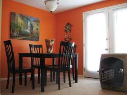Black Lacquer Dining Room Chairs Dining Room Orange Wall Design With Chandelier Ideas With Brown