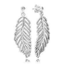 feather earrings nz statement feathers pandora hanging earrings pandora estore