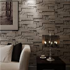 fashion stacked brick 3d wallpaper modern wall paper vintage 3d