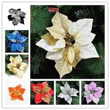 Orange Decorations For Christmas Tree by Aliexpress Com Buy Three Layer Christmas Flower Purple Black