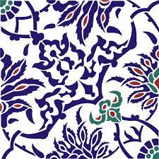 Ottoman Tiles Iznik Tile Ottoman Stencil Design From Stencil Kingdom