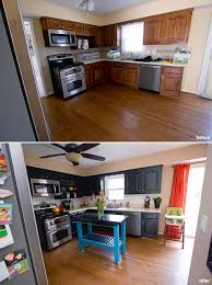 Diy Home Renovation by Painted Cabinets And Painted Backsplash Before And After Home