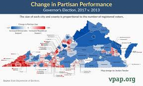 Map Performance Change In Partisan Performance Governor U0027s Election 2017 V 2013