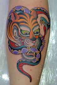 awesome tiger and snake by valerie vargas snake