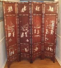 Antique Room Divider by Antique Asian Screen Room Divider With Four Panel Decolover Net
