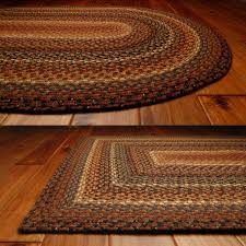 braided rug cotton braided rugs primitive home decors