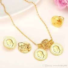 coin jewelry necklace images 2018 24k real solid gold coin jewelry sets ethiopian coin set jpg