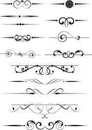 set of dividers ornamental rule lines stock vector colourbox