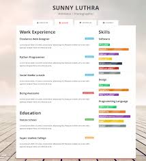 one page resume template free