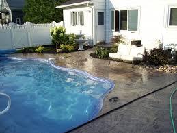 stamped concrete pool decks decorative concrete pool decks