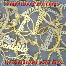 Name Hoop Earrings Name Jewelry Name Earrings Name Necklace Collection At Soul