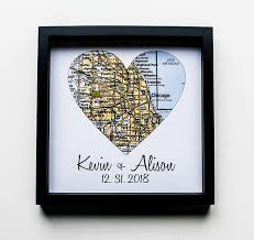 wedding gift map wedding gift map framed print personalized wedding gift