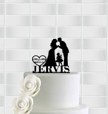 family cake toppers family wedding cake topper with girl groom silhouette