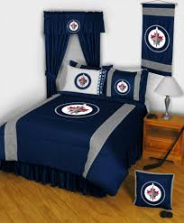 Sports Themed Duvet Covers Winnipeg Jets Nhl Sidelines Collection By Sports Coverage