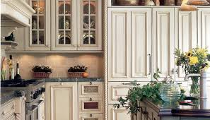 Antique Cream Kitchen Cabinets Antique White Cabinets With Dark Countertops Exitallergy Com