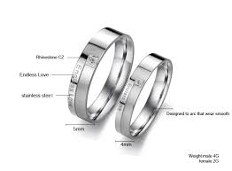 promise ring engagement ring wedding ring set endless titanium stainless steel mens promise