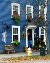 yellow house love yellow houses blue shutters and blue grey