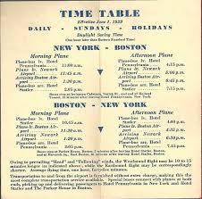 Daily Table Boston American Airlines Timetables World Airline Historical Society