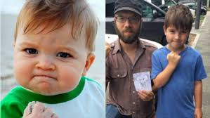 Baby Eating Sand Meme - success kid meme boy who became a viral star is all grown up at
