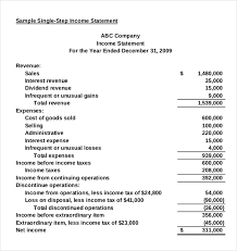 Financial Statements Templates For Excel Income Statement Templates 17 Free Word Excel Pdf Documents